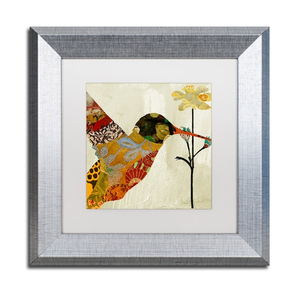 Color Bakery 'Hummingbird Brocade III' Matted Framed Art