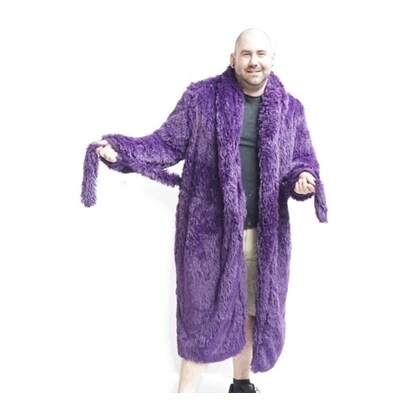 Brotoga Men's Royalty Purple Classic Version Robe