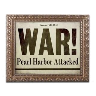 Color Bakery 'Pearl Harbor' Ornate Framed Art