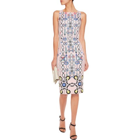 Peter Pilotto Kia Blush Printed Dress Size 6