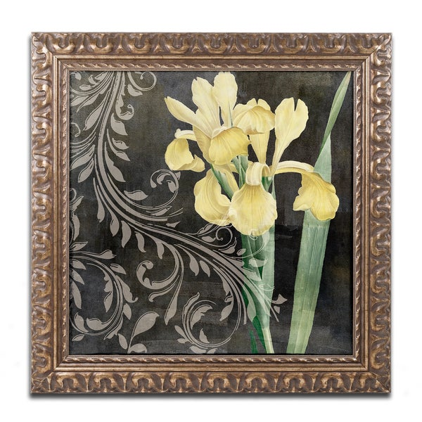 Color Bakery 'Ode to Yellow II' Ornate Framed Art
