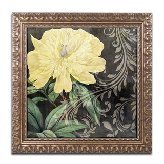 Color Bakery 'Ode to Yellow I' Ornate Framed Art