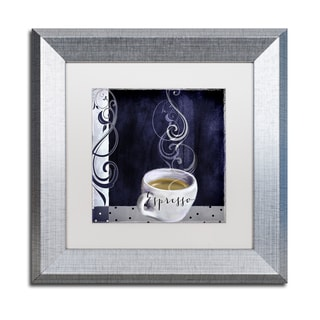 Color Bakery 'Cafe Blue IV' Matted Framed Art