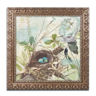 Color Bakery 'Nesting II' Ornate Framed Art