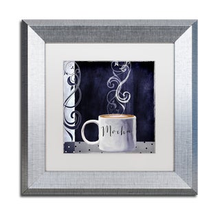 Color Bakery 'Cafe Blue III' Matted Framed Art