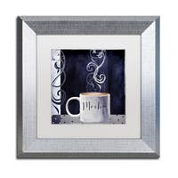 Color Bakery 'Cafe Blue III' Matted Framed Art - Grey/white