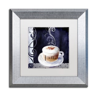 Color Bakery 'Cafe Blue II' Matted Framed Art