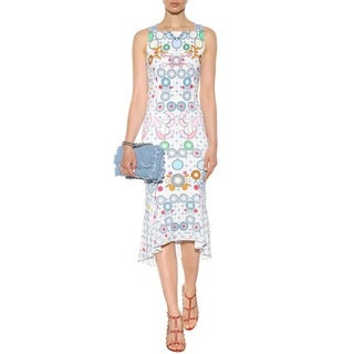 Peter Pilotto Kia Printed Frill Size 8 Dress