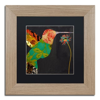Color Bakery 'Hummingbird Brocade IV' Matted Framed Art
