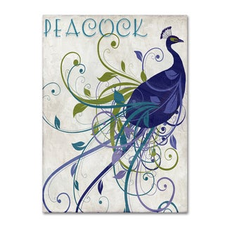 Color Bakery 'Peacock Nouveau I' Canvas Art - Blue