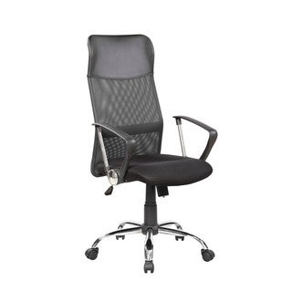 High-back Black Mesh Adjustable Executive Office Chair