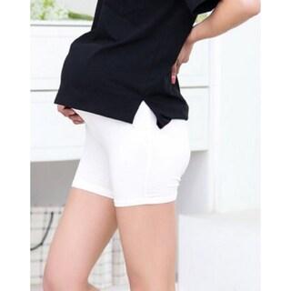 Stretchy Active Maternity Shorts (Option: White)