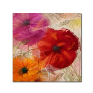Color Bakery 'Penchant For Poppies I' Canvas Art