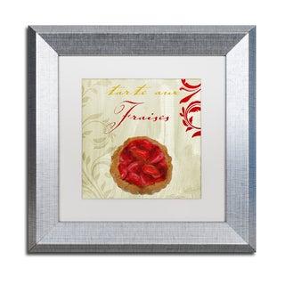 Color Bakery 'Tartes Francais, Strawberry' Matted Framed Art