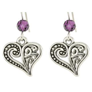 Birthstone Heart Earrings (Michigan)