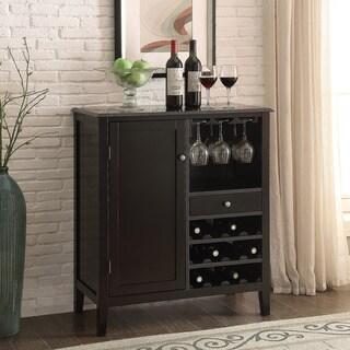 36-inch Black 12-bottle Wine Storage Cabinet