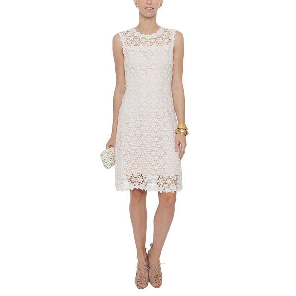f7d21acfb5 Shop Elie Tahari Ophelia White Lace Dress - On Sale - Free Shipping Today -  Overstock - 14770387