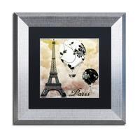 Color Bakery 'Ceil Jaune II' Matted Framed Art - Grey
