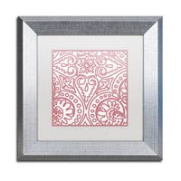 Color Bakery 'Dulce III' Matted Framed Art - Red/White