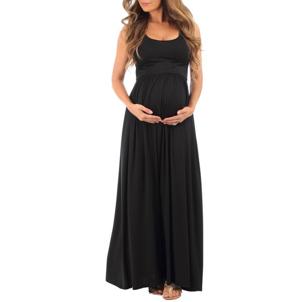 7abc229c818a3 Shop Mother Bee Women's Ruched Sleeveless Maternity Dress - Free ...