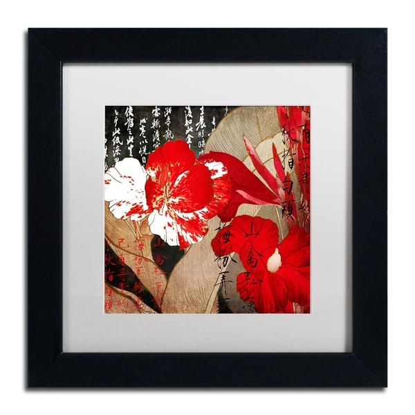 Color Bakery 'China Red I' Matted Framed Art - Black