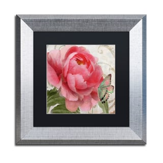 Color Bakery 'Apricot Peonies II' Matted Framed Art