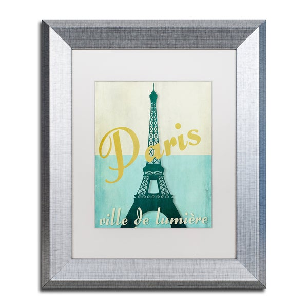 Color Bakery 'Paris City of Light' Matted Framed Art