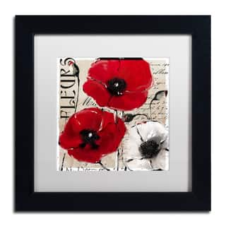 Color Bakery 'Rouge One' Matted Framed Art - Red