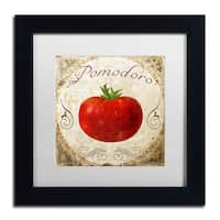 Color Bakery 'Mangia II' Matted Framed Art