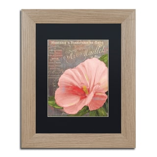 Color Bakery 'Peach Hibiscus' Matted Framed Art