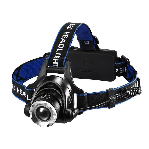 Headlamps, LED Headlight with 1600 Lumens Brightness, Four Lighting Modes, 90°Adjustable Headband, IP45 Waterproof Design