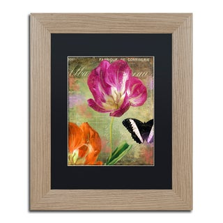 Color Bakery 'Aubergine Peony' Matted Framed Art