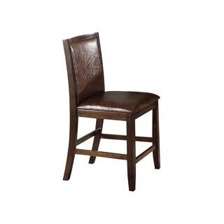 Acme Furniture Charissa Dark Walnut Counter-height Chair (Set of 2)