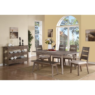 """Emerald Home Viewpoint Dining Table W/18"""" Butterfly Leaf"""