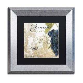 Color Bakery 'Grand Vin Grenache' Matted Framed Art