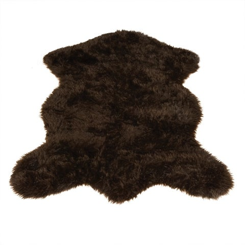 Brown Bear Pelt Faux Fur Rug - 5' x 7'