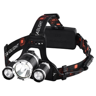 High Power LED Headlamp (4 Modes, 2 Rechargeable Batteries)