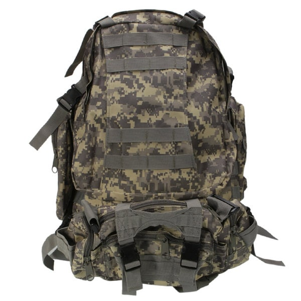 Camouflage Fabric 55-liter Double-shoulder Military-style Tactical Backpack