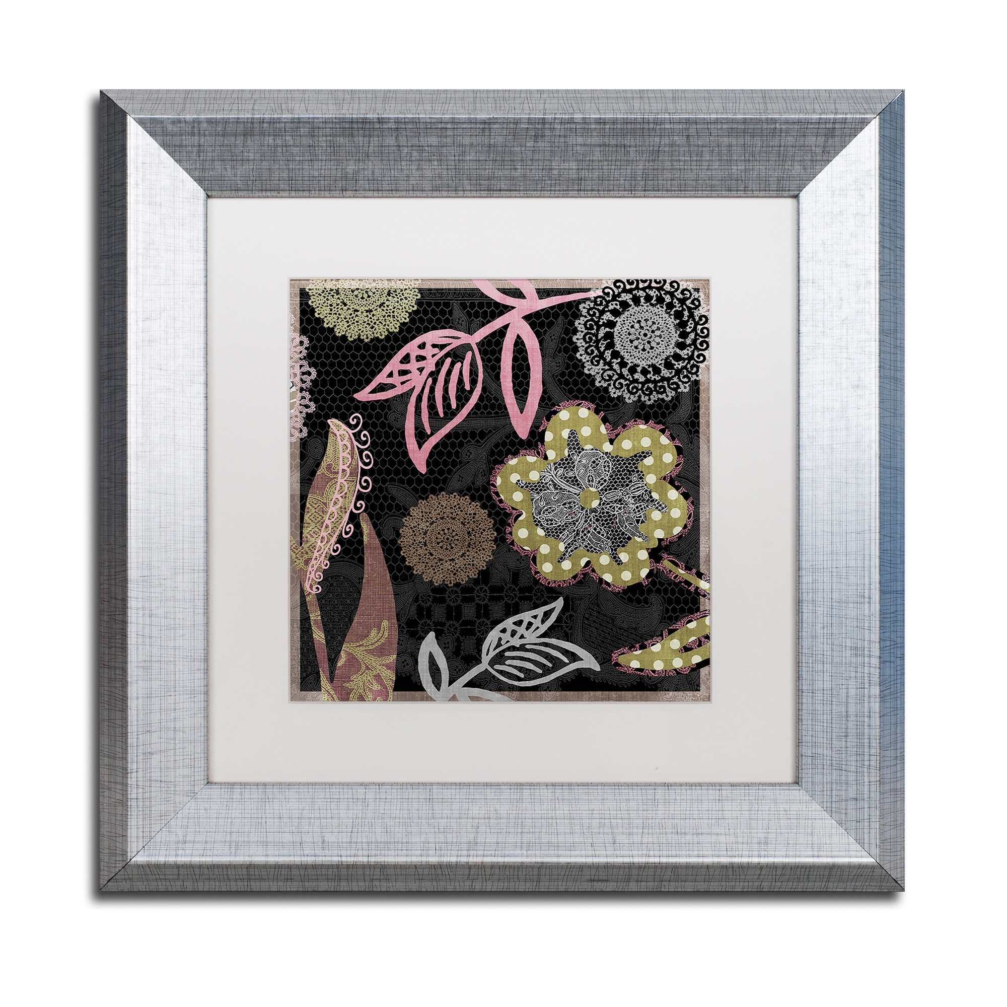 Trademark Color Bakery 'Daisy Cartwheels II' Matted Frame...