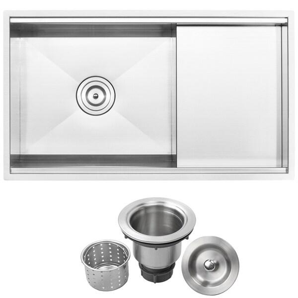 Inch Single Bowl Overmount Kitchen Sink