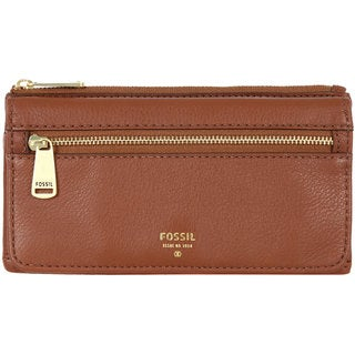 Fossil Preston Brown Leather Flap Clutch Wallet