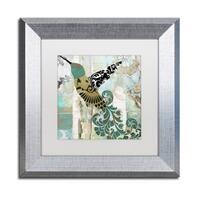 Color Bakery 'Hummingbird Batik II' Matted Framed Art - Off-White