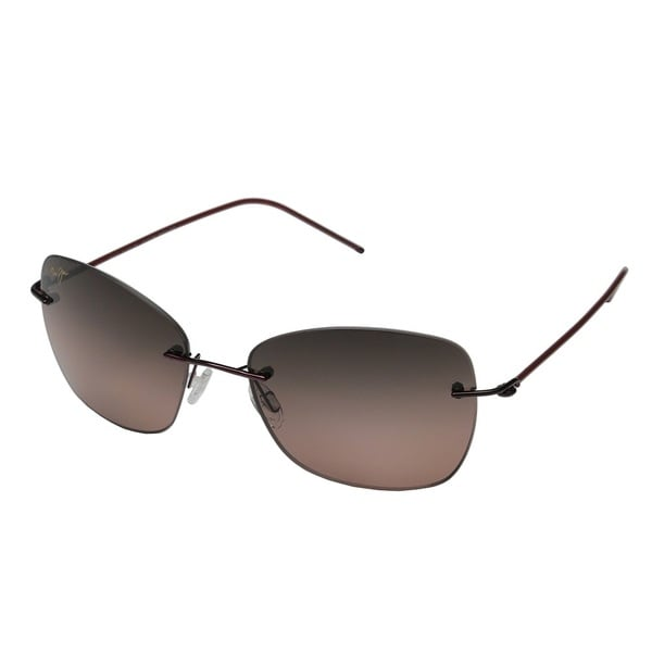 da2661fe9f10 Maui Jim Apapane RS717-07 Unisex Burgundy Red Frame Maui Rose Lens  Sunglasses
