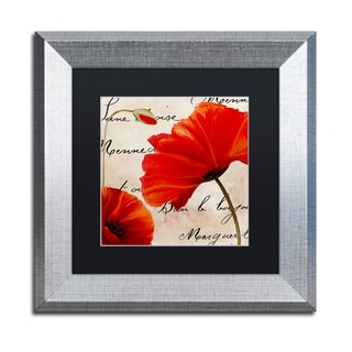 Color Bakery 'Coquelicots Rouge II' Matted Framed Art
