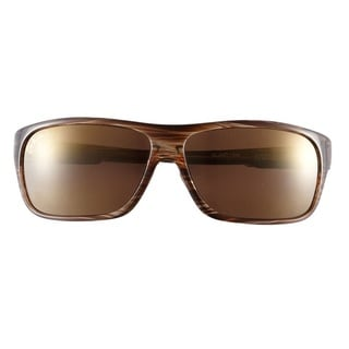 Maui Jim Island Time H237-15 Women's Striped Rootbeer Frame HCL Bronze Lens Sunglasses
