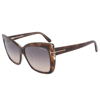 Tom Ford Irina FT0390 Women's Black and Crystal Grey Gradient sunglasses