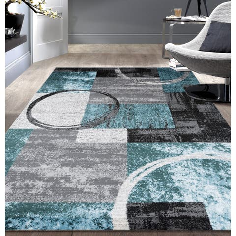 OSTI Abstract Circle Area Rug
