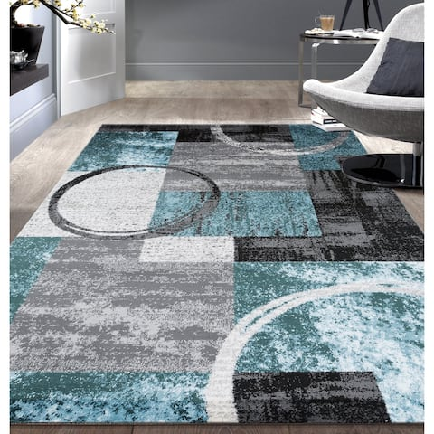 OSTI Toscana Abstract Circle Area Rug