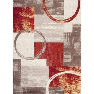 OSTI Abstract Circle Area Rug (9 x 12 - Multi)