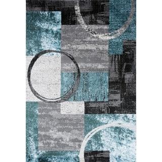 OSTI Abstract Circle Area Rug (53 x 73 - Blue/Grey)